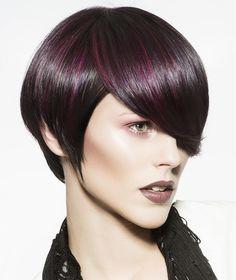 Short Purple Black Hairstyles