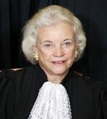 Sandra Day O'Connor - first woman on the supreme court