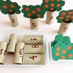 matemática brincando Simple, mas excelente atividade que ajuda n. Preschool Learning Activities, Preschool At Home, Infant Activities, Preschool Activities, Teaching Kids, Montessori Kindergarten, Educational Activities, Kids Education, Crafts For Kids