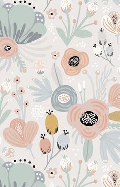 Munks + Me Betsy Floral Garden Wallpaper