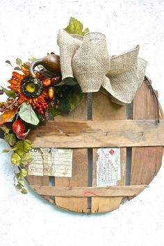 Tattered Tiques: Vintage Bushel Basket Wreath