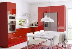 Cuisine Ikea : le modèle rouge sang
