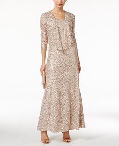 7b8b4077e79 Alex Evenings Embellished Lace Dress and Jacket Set Women - Dresses - Macy s