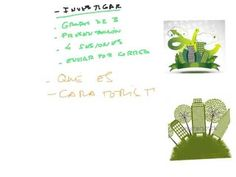 ¿QUÉ VAMOS A HACER? Aquí puedes ver las partes de nuestro proyecto sobre edificios verdes.