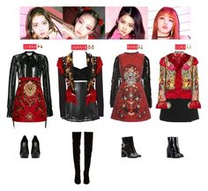 A fashion look from January 2018 featuring mini dress, lace blouses and embroidered jackets. Browse and shop related looks. Blackpink Fashion, Kpop Fashion Outfits, Stage Outfits, Korean Fashion, Pink Outfits, Cute Casual Outfits, Mode Pastel, Polyvore Outfits, Ulzzang