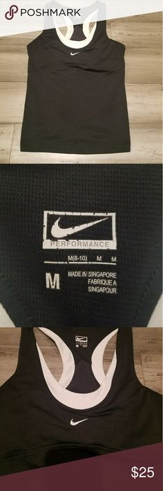 Nike Racerback Dri Fit Tank Size Medium Black Black Nike Racerback Dri Fit Tank. Size Medium. Black and white. Excellent condition. Nike Tops Tank Tops