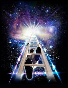Every positive change—every jump to a higher level of energy & awareness—involves a rite of passage. Each time to ascend to a higher rung on the ladder of personal evolution, we must go through a period of discomfort, of initiation. Cosmos, Arte Alien, Psy Art, Rite Of Passage, Stairway To Heaven, Comme Des Garcons, Spiritual Awakening, Sacred Geometry, Evolution
