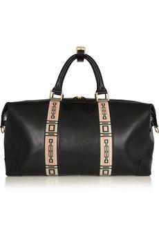 Eddie Harrop The Voyager printed leather weekend bag | NET-A-PORTER