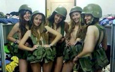 A group of frisky female Israeli soldiers published three more half-naked photos of themselves while on duty, almost immediately after they were punished. Israeli Female Soldiers, Rap, Israeli Girls, Idf Women, Desert Fashion, Military Women, Sexy, Girls Uniforms, Carnival