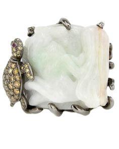 Wendy Yue Turtle Jade Ring