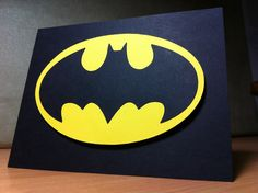 Batman card. My version made on Cricut Expression using an SVG file & SCAL2 software. But inspired by this blog & this video using SU punches, dies & IMPORTANT TIP using post it notes to position before punching. http://pinterest.com/pin/62417144807849442/