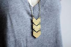 Clay Chevron Necklace