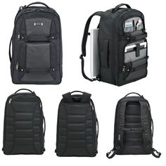 """New Kenneth Cole Tech All-In-One Travel Business Black 17"""" Laptop Backpack #KennethCole"""