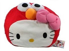 Hello Kitty x Sesame Street Face Cushion Pillow 3447  13 Elmo Kitty *** Click image to review more details.