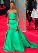 Lupita Nyong'o Wows in Green Dior at BAFTA Awards