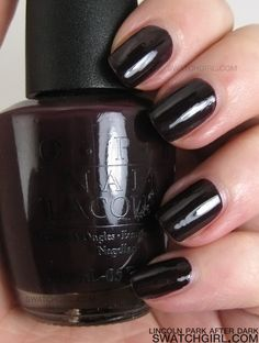 OPI Lincoln Park After Dark. My favorite nail color, I wear it all the time.