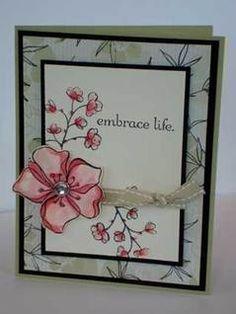 Embrace Life stamp set - love it, love it, love it!