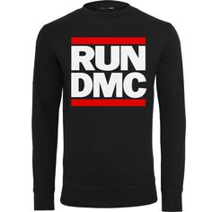 Run DMC Logo Crewneck Sweater  #fashion #crewneck #sweater  #rundmc #hiphop #style http://www.rudestylz.de/run-dmc-sweater.htm