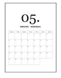 Calendar 2019 May #may #may2019 #may2019calendar #floral