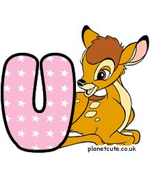 Planet Cute - Alphabet - Bambi - Image Disney Letters, Cute Alphabet, Letters And Numbers, Bambi, Disney Characters, Fictional Characters, Dogs, Image, Woodland Creatures