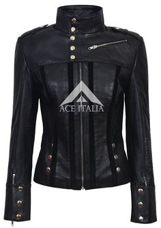 Ladies 4520 Black Slim Fit Suede Sheep Biker Napa Genuine Soft Leather Jacket #SmartRange #OtherJackets #Casual