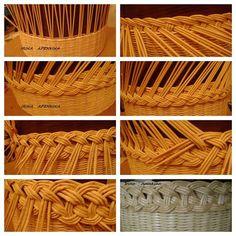 Paper Basket Weaving, Willow Weaving, Newspaper Basket, Newspaper Crafts, Upcycled Crafts, Diy And Crafts, Hobbies And Crafts, Pine Needle Crafts, Basket Crafts
