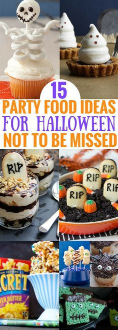 Halloween food party ideas for kids and adults that are SO GOOD! If you're looking for delicious halloween treats that look great and taste great, then you really need to read this!