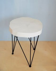 BIRCH SIDE TABLE #1 white