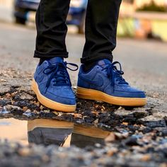 Nike Air Force 1 Blue/Gum