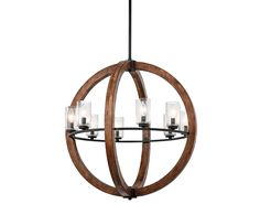 Kitchler - Grand Bank Collection - 2-Story Foyer Chandelier in Auburn Stained Finish - Group 9