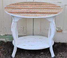 Vintage Mellie yardstick table after