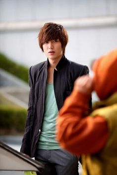On set City Hunter, Lee Min Ho