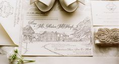 Tankardstown House Wedding Invitation by Appleberry Press