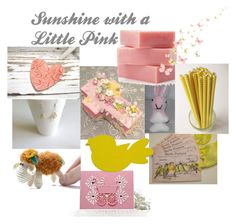 """Sunshine with a Little Pink"" by omearascottagecharm ❤ liked on Polyvore featuring art and etsyfru"