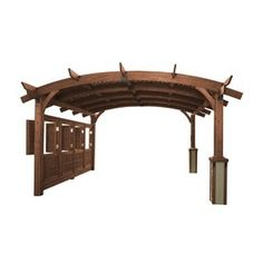 Outdoor Greatroom Company Sonoma 16-Ft Square Arched Wood Pergola Actual: 15-Ft 5-In X 15-Ft 5-In Sonoma16-M
