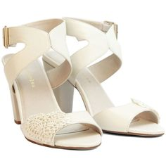 Ladies leather Ivory Wedding Shoes. Perfect by ForeverSoles