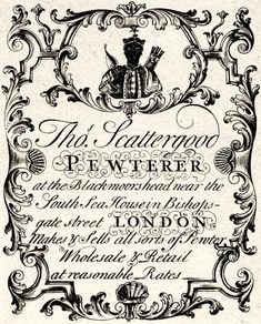 The Trade Cards of Old London | Spitalfields Life