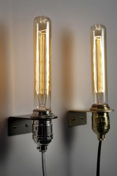 Last Minute Sconce - DIY? Saw these bulbs on Joss and Main