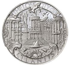 "The tales of the great civilization of Atlantis are a staple of Western mythology. It was supposedly ""lost"" during antiquity, and the idea of the Lost City of Atlantis has fascinated readers ever since. This beautifully crafted silver round celebrates this mythos in splendid .999 fine silver. You can add the Atlantis 1 oz Silver Round - Lost Cities Series (.999 Pure) to your collection for a very low premium over spot silver! Buy Gold And Silver, Silver Bullion, Lost City, Silver Rounds, 1 Oz, Atlantis, Civilization, Mythology"