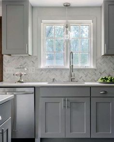 Kitchen Makeover Looking for grey kitchen ideas? If you're looking for an alternative to white kitchen units, you can't go incorrect bearing in mind grey cabinetry and grey Refacing Kitchen Cabinets, White Kitchen Cabinets, Kitchen Cabinet Design, Cabinet Refacing, Cabinet Makeover, Refinish Cabinets, Grey Cupboards, Kitchen Layout, Metal Cabinets