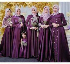 Dress Brukat, Hijab Dress Party, Hijab Style Dress, Kebaya Dress, Dress Pesta, Party Gowns, Hijab Bride, Wedding Hijab, Evening Dresses