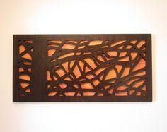 Modern Wall Art, Rustic Wall Art, Tree Sculpture - 4 feet wide -. $350.00, via Etsy.