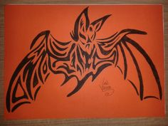 Tribal Bat halloween art
