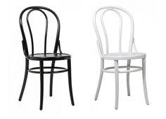 Bistro tuoli, värivaihtoehtoina musta ja valkoinen