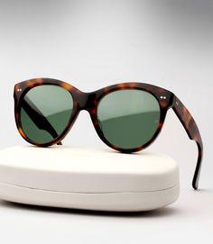 Oliver Goldsmith Manhattan Sunglasses - Dark Tortoiseshell- The iconic  sunglasses Audrey Hepburn wore in Breakfast at Tiffany s 96c599eba8