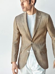 Autumn Spring summer 2017 Men´s HERRINGBONE SLIM FIT LINEN BLAZER at Massimo Dutti for 245. Effortless elegance!