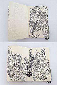 Sketchbook Pages by uberkraaft, via Flickr