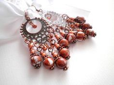 Goldstone Antique Copper Earrings from juta ehted - my jewelry shop by DaWanda.com