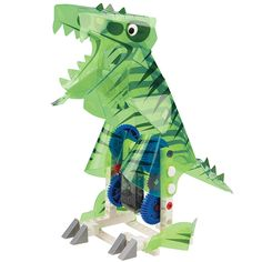 Construct a whole zoo's worth of remote-controlled animals with mechanical insides covered by colorful plastic skins with the Remote Control Machines Animals experiment kit.