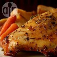 Dinner is cooking in the crockpot as I type. Roast Chicken Recipes, Crockpot Recipes, Pollo Al Champignon, Greek Chicken And Potatoes, Slow Cooker Recipes, Cooking Recipes, Healthy Eating Tips, Chicken Seasoning, Mushroom Recipes